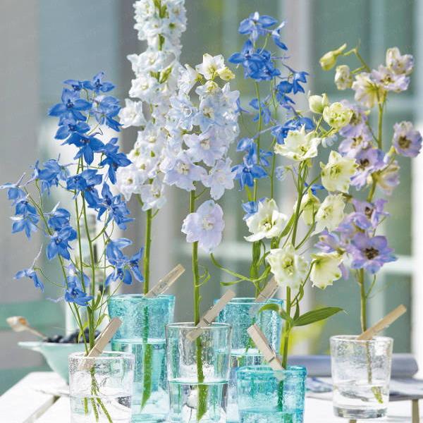 Διακόσμηση με μπλε λουλούδια8