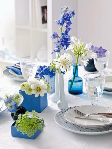 Διακόσμηση με μπλε λουλούδια9