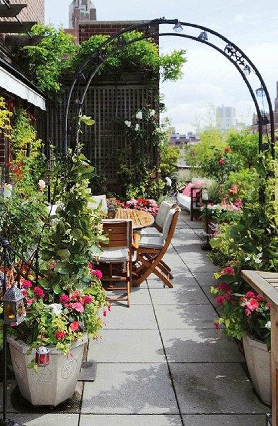 ιδέες για Κήπους στην ταράτσα 5