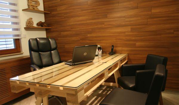 DIY γραφεία από παλέτες