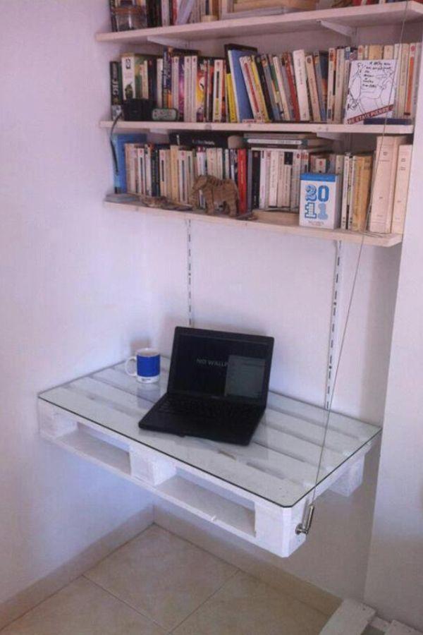 DIY γραφεία από παλέτες10
