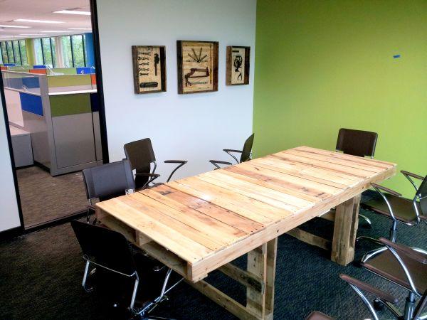 DIY γραφεία από παλέτες12