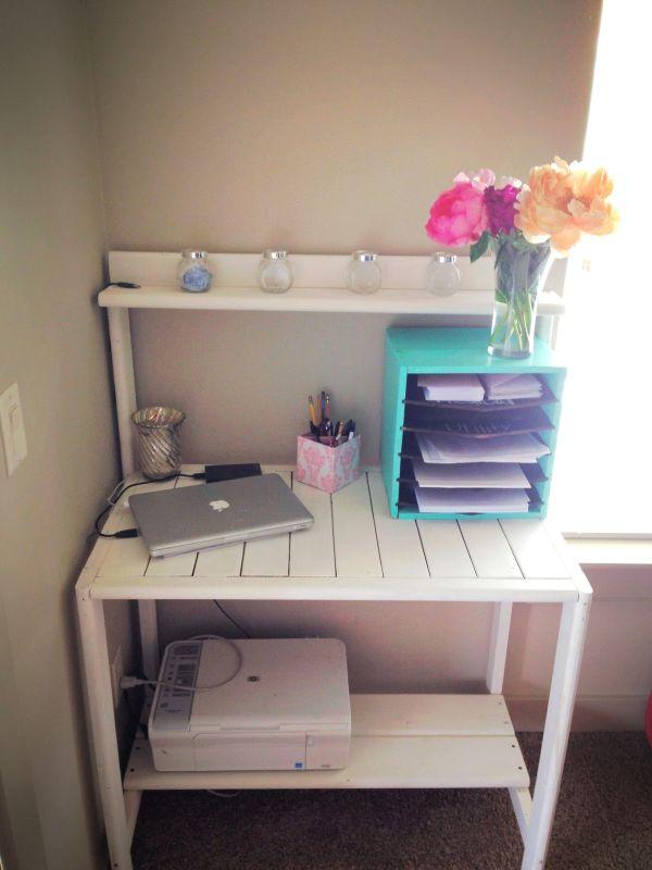 DIY γραφεία από παλέτες16
