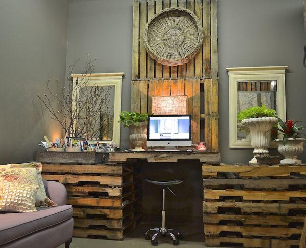 DIY γραφεία από παλέτες18