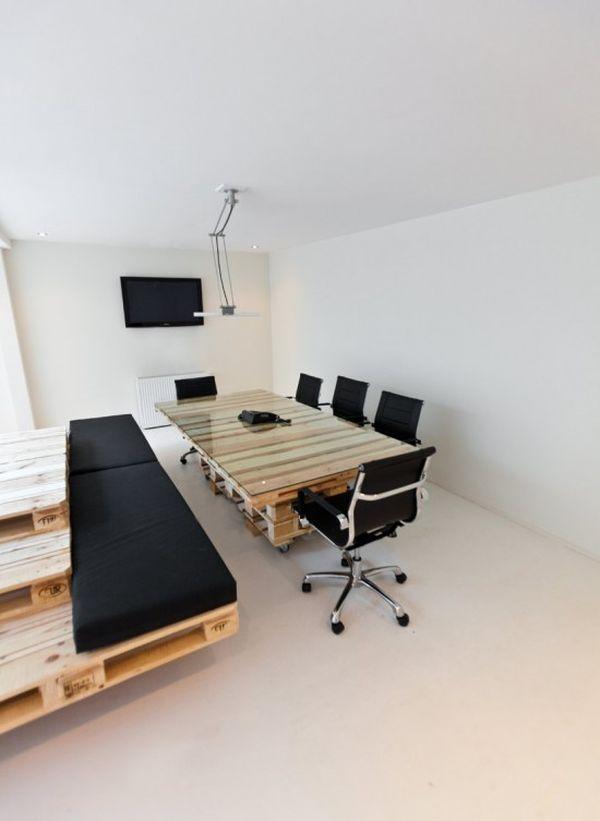 DIY γραφεία από παλέτες7