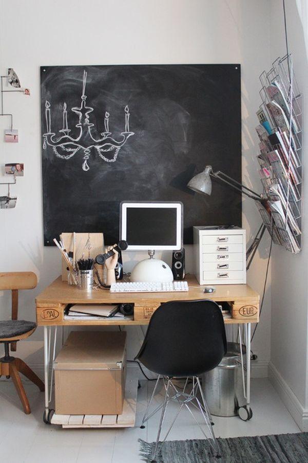 DIY γραφεία από παλέτες9