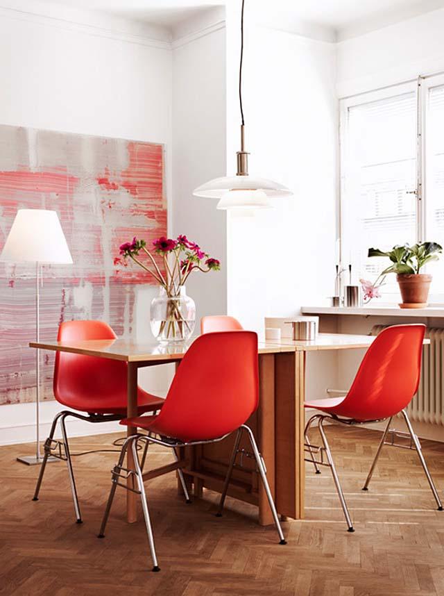 Υπέροχες ιδέες για το σπίτι σας με συνδυασμό Λευκού και Κόκκινου χρώματος4