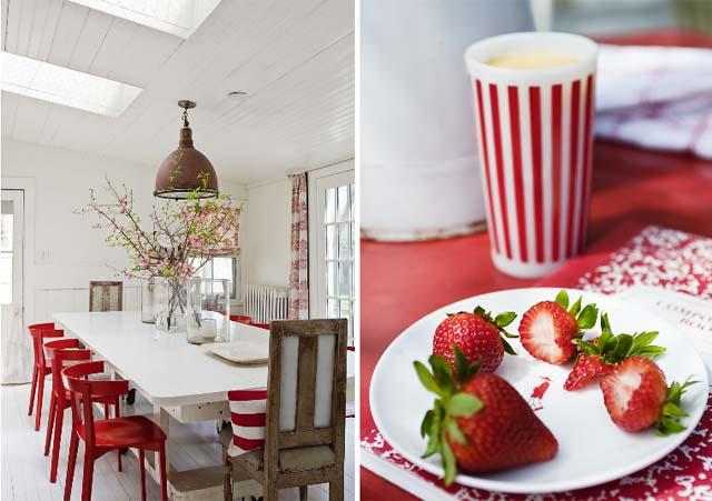 Υπέροχες ιδέες για το σπίτι σας με συνδυασμό Λευκού και Κόκκινου χρώματος6