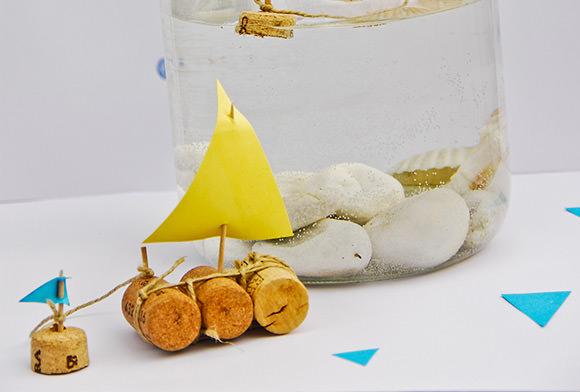 DIY Ιστιοφόρο σε βάζο από Φελλό1