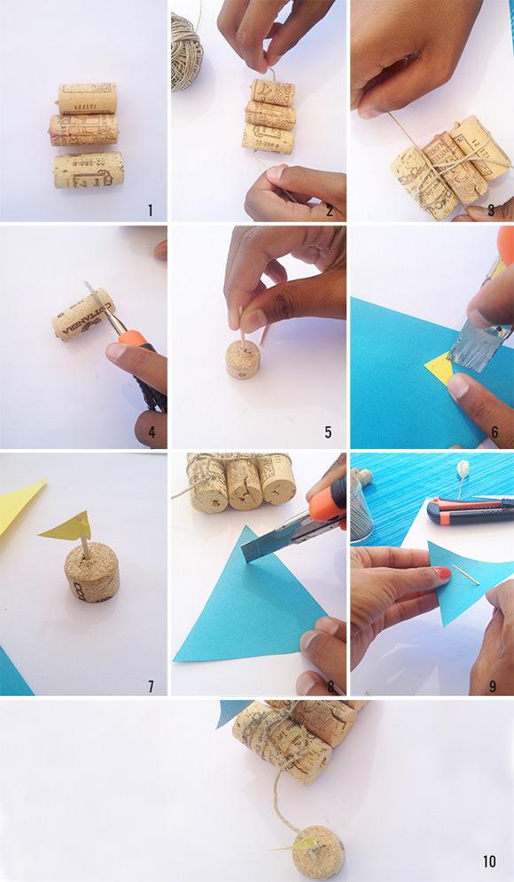 DIY Ιστιοφόρο σε βάζο από Φελλό2