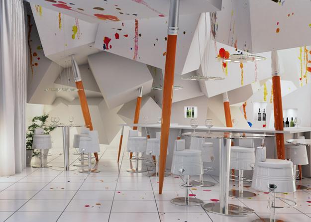 Θεαματική διακοσμήση για εμπνευσμένο και σύγχρονο εσωτερικό ντιζάιν με πολύχρωμες πιτσιλιές