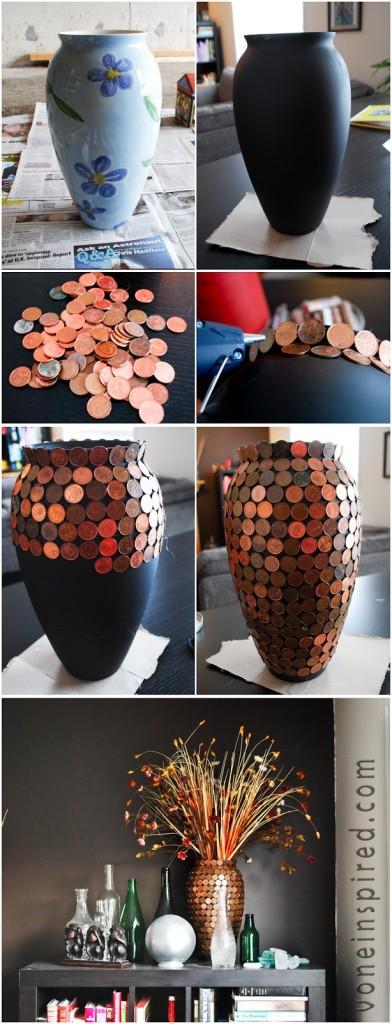 DIY Ιδέες από μικρά σε αξία κέρματα10