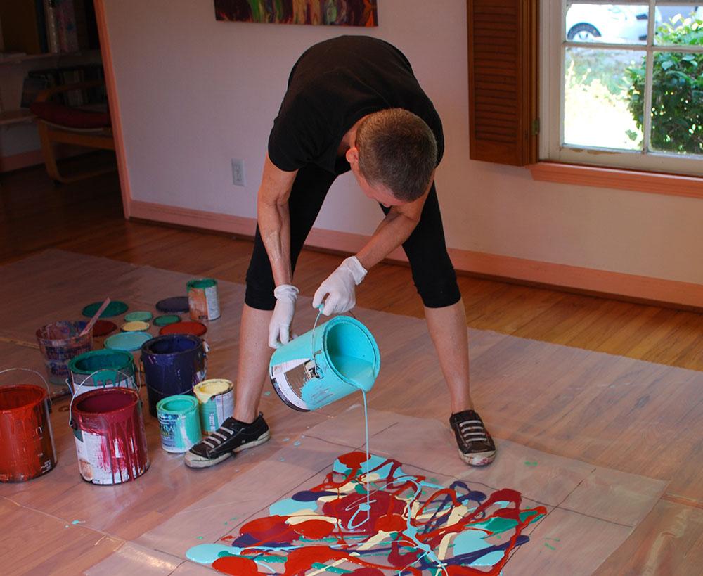 Diy Καταπληκτική σύγχρονη τέχνη από περίσσευματα χρωμάτων