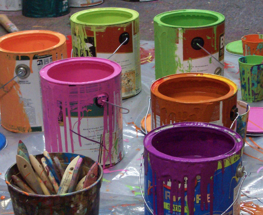 Diy Καταπληκτική σύγχρονη τέχνη από περίσσευματα χρωμάτων3
