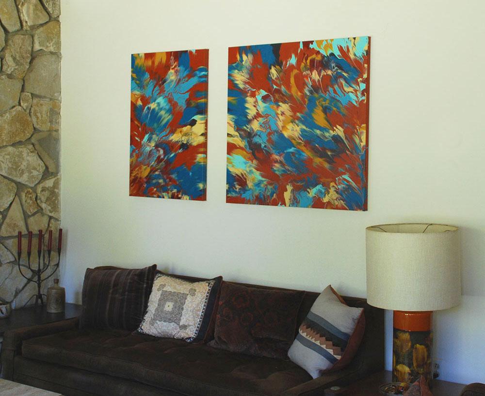 Diy Καταπληκτική σύγχρονη τέχνη από περίσσευματα χρωμάτων4