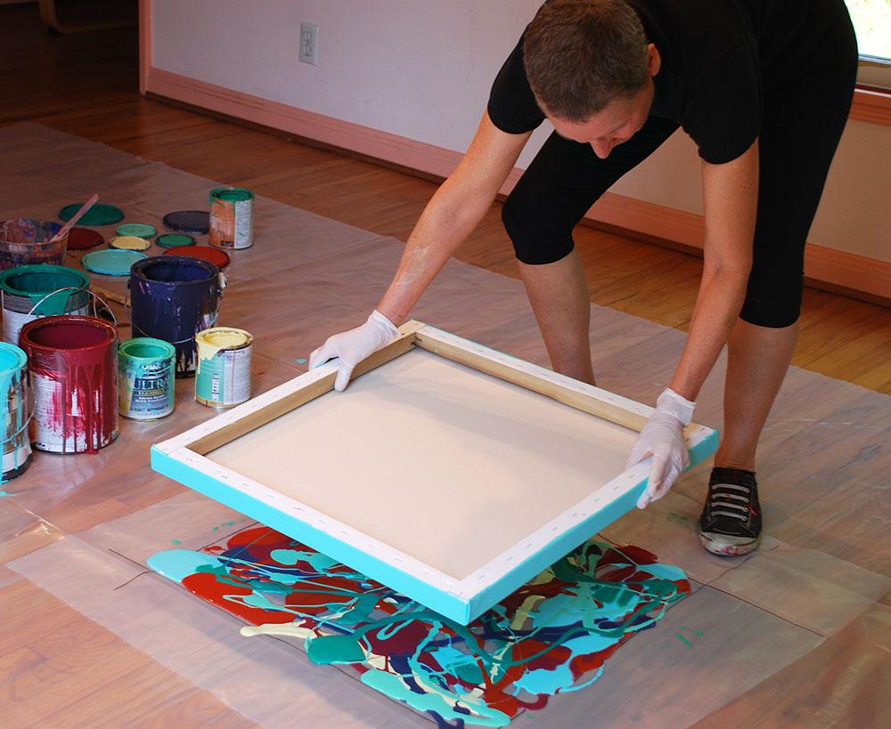 Diy Καταπληκτική σύγχρονη τέχνη από περίσσευματα χρωμάτων, για να διακοσμήσετε τους τοίχους σας