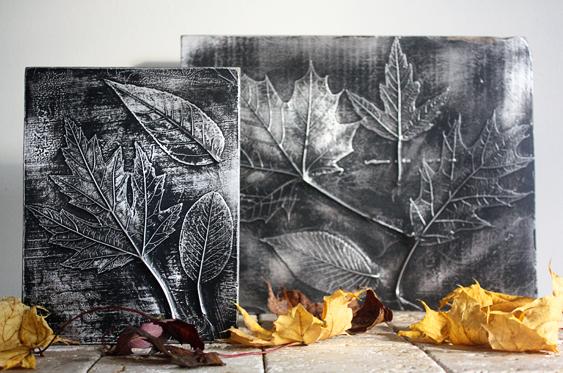 Όμορφη DIY διακόσμηση με φύλλα