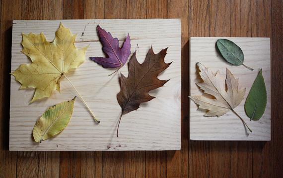 Όμορφη DIY διακόσμηση με φύλλα1