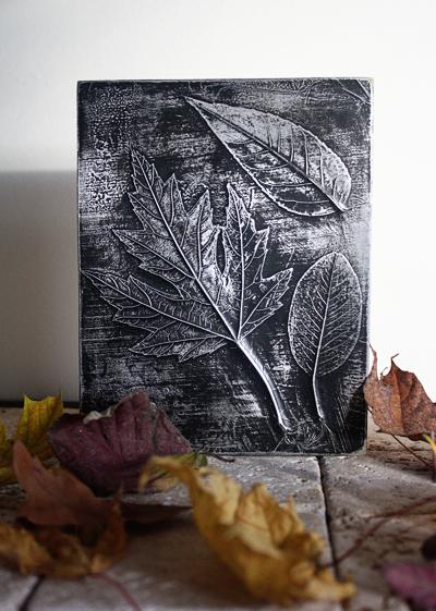 Όμορφη DIY διακόσμηση με φύλλα3