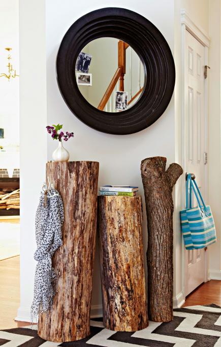 Διακόσμηση με φυσικό ξύλο1