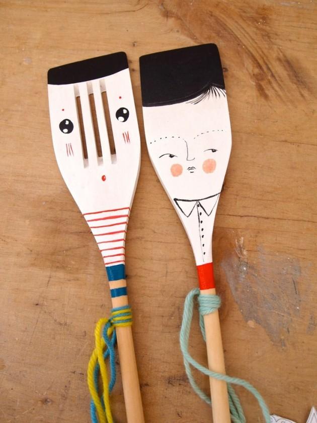 DIY Ξύλινές διακοσμητικές Χειροτεχνίες με Κουτάλια