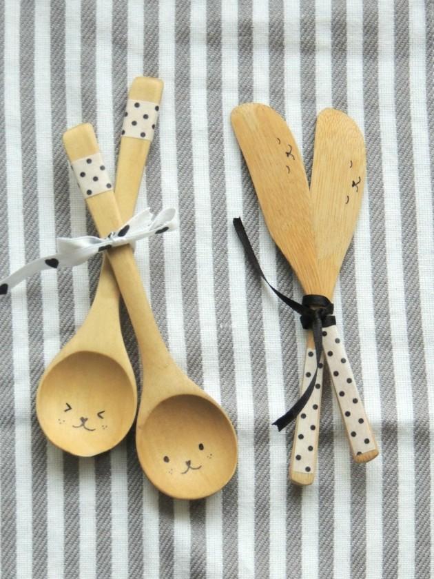 DIY Ξύλινές διακοσμητικές Χειροτεχνίες με Κουτάλια7