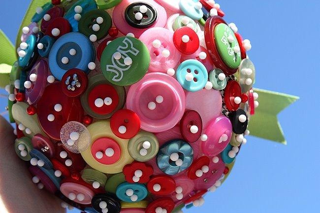 Πρωτότυπα DIY Χριστουγεννιάτικα Στολίδια με κουμπιά1