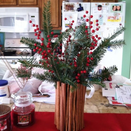 Υπέροχες Αρωματικές Ιδέες Χριστουγεννιάτικής Διακόσμησης με ραβδάκια κανέλας11