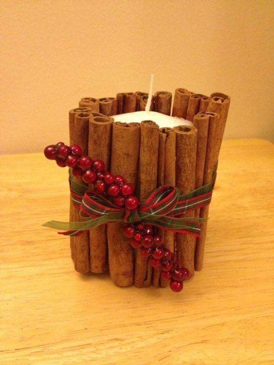 Υπέροχες Αρωματικές Ιδέες Χριστουγεννιάτικής Διακόσμησης με ραβδάκια κανέλας24