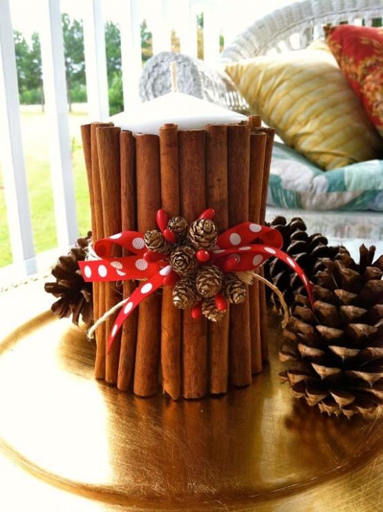 Υπέροχες Αρωματικές Ιδέες Χριστουγεννιάτικής Διακόσμησης με ραβδάκια κανέλας35