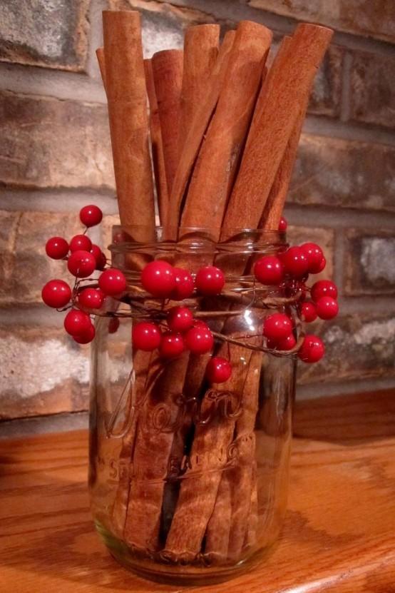 Υπέροχες Αρωματικές Ιδέες Χριστουγεννιάτικής Διακόσμησης με ραβδάκια κανέλας36