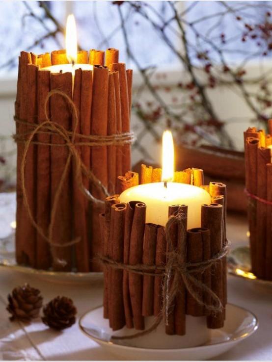 Υπέροχες Αρωματικές Ιδέες Χριστουγεννιάτικής Διακόσμησης με ραβδάκια κανέλας6