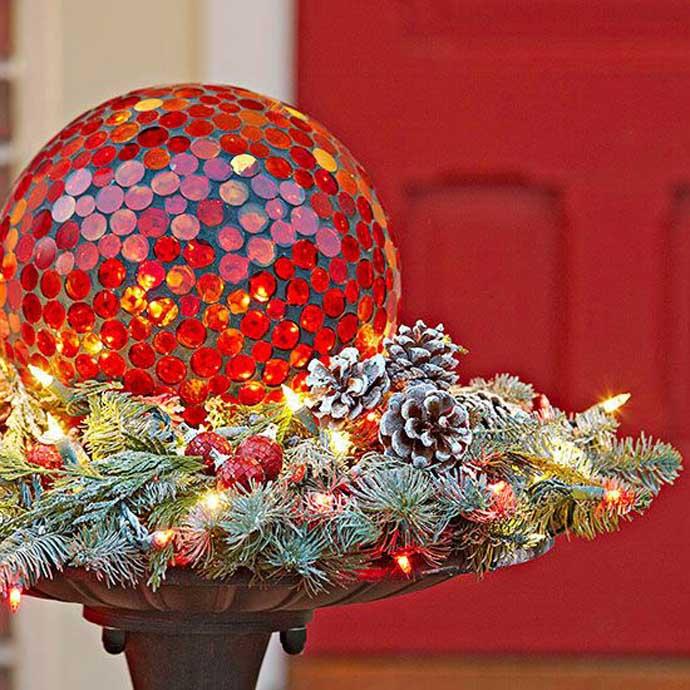 Χριστουγεννιάτικες ιδέες διακόσμησης με εξωτερικά φωτάκια1