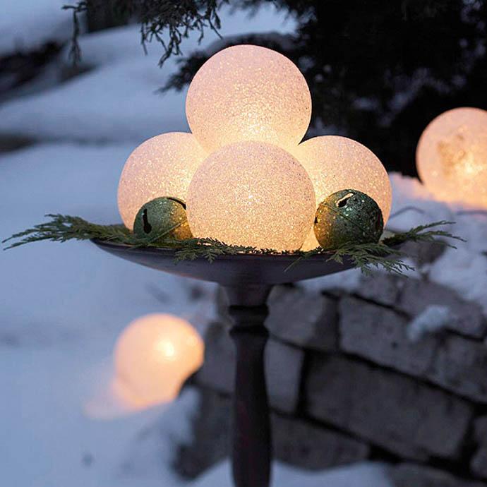 Χριστουγεννιάτικες ιδέες διακόσμησης με εξωτερικά φωτάκια6
