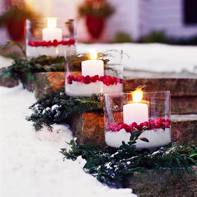 Χριστουγεννιάτικες ιδέες διακόσμησης με εξωτερικά φωτάκια8