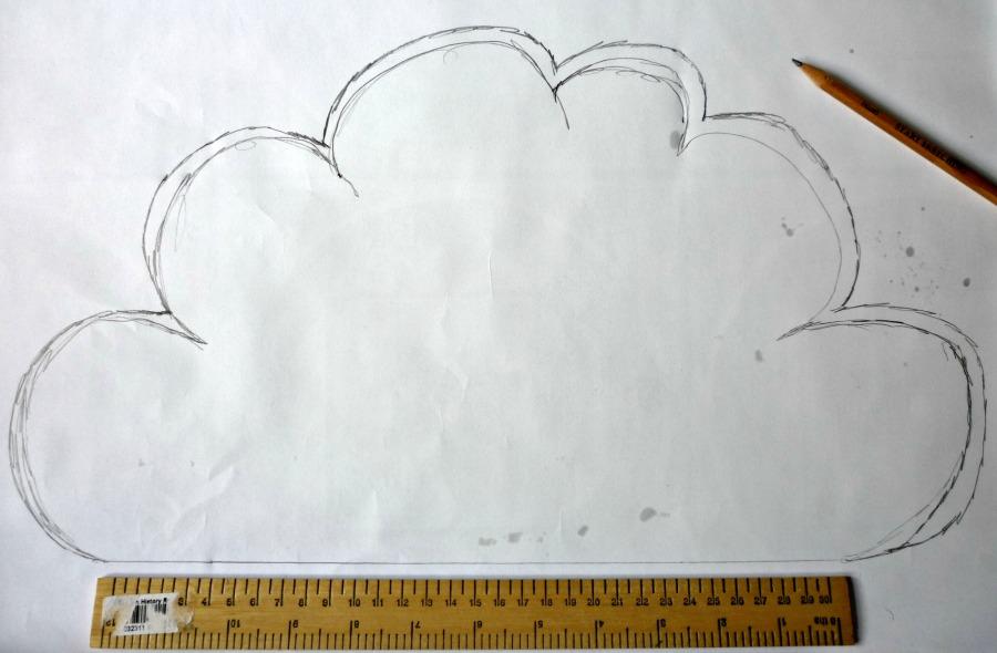 diy αιωρούμενο σύννεφο για το βρεφικό2