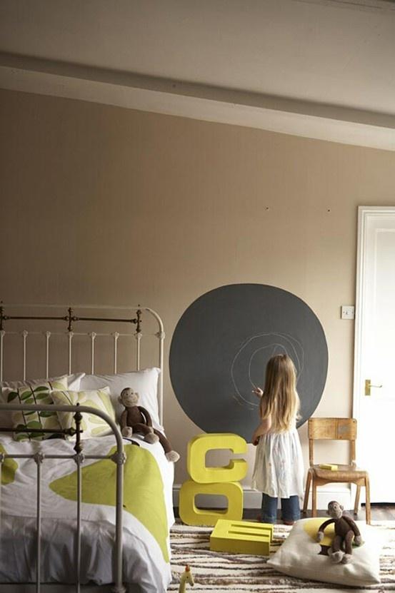 Ιδέες με Χρώμα μαυροπίνακα για παιδικό δωμάτιο
