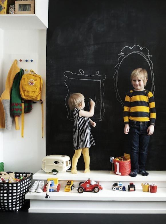 Ιδέες με Χρώμα μαυροπίνακα για παιδικό δωμάτιο10
