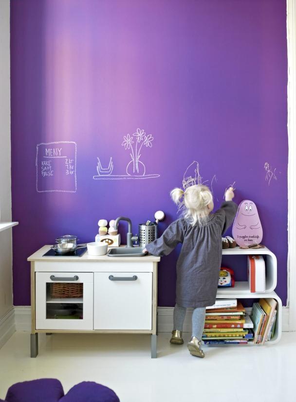 Ιδέες με Χρώμα μαυροπίνακα για παιδικό δωμάτιο12