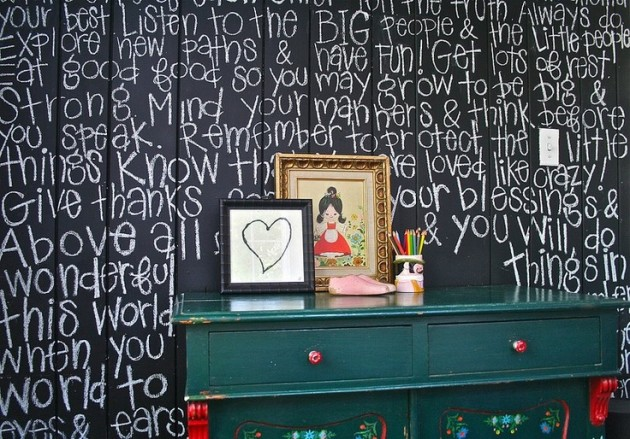 Ιδέες με Χρώμα μαυροπίνακα για παιδικό δωμάτιο14