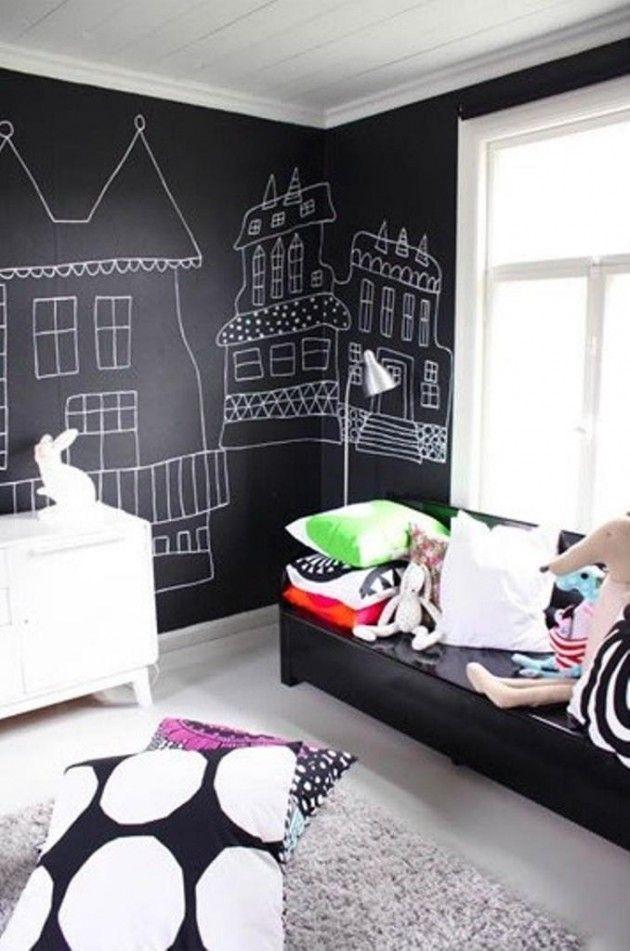Ιδέες με Χρώμα μαυροπίνακα για παιδικό δωμάτιο15