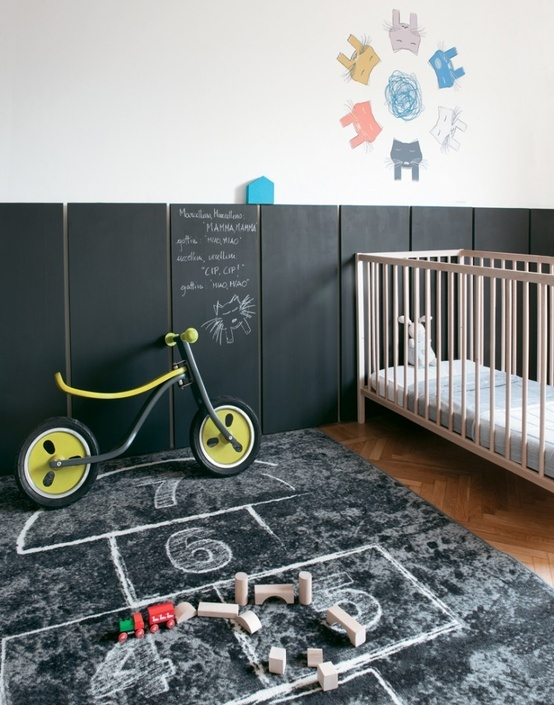 Ιδέες με Χρώμα μαυροπίνακα για παιδικό δωμάτιο20