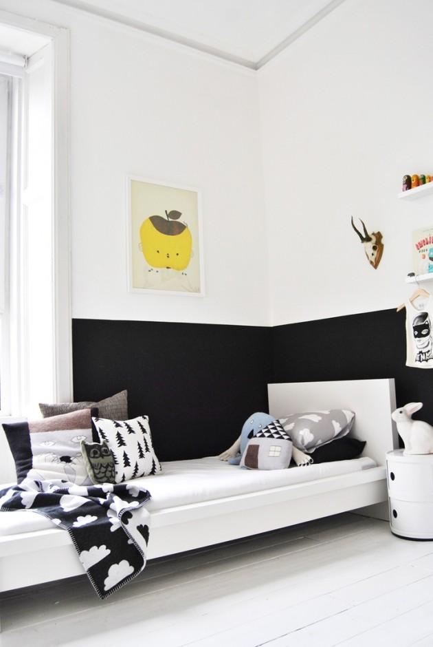 Ιδέες με Χρώμα μαυροπίνακα για παιδικό δωμάτιο23