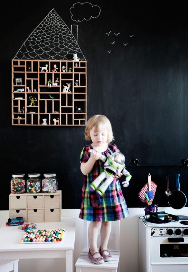 Ιδέες με Χρώμα μαυροπίνακα για παιδικό δωμάτιο24