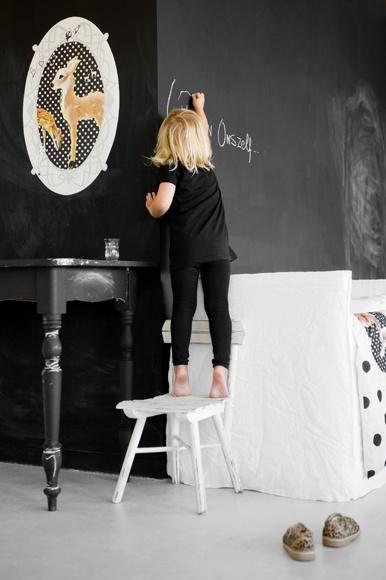 Ιδέες με Χρώμα μαυροπίνακα για παιδικό δωμάτιο25