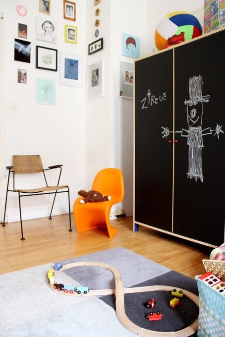 Ιδέες με Χρώμα μαυροπίνακα για παιδικό δωμάτιο27
