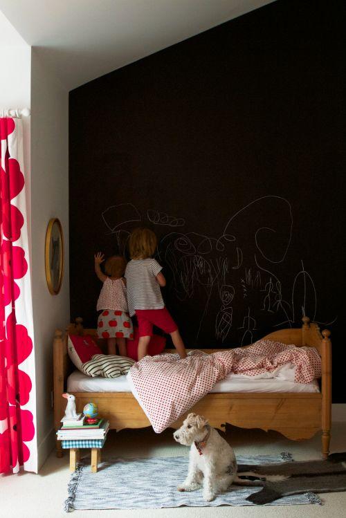 Ιδέες με Χρώμα μαυροπίνακα για παιδικό δωμάτιο28