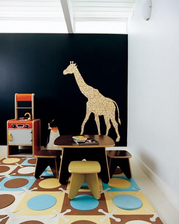 Ιδέες με Χρώμα μαυροπίνακα για παιδικό δωμάτιο29