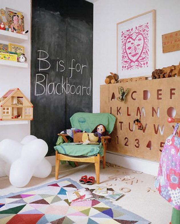 Ιδέες με Χρώμα μαυροπίνακα για παιδικό δωμάτιο3
