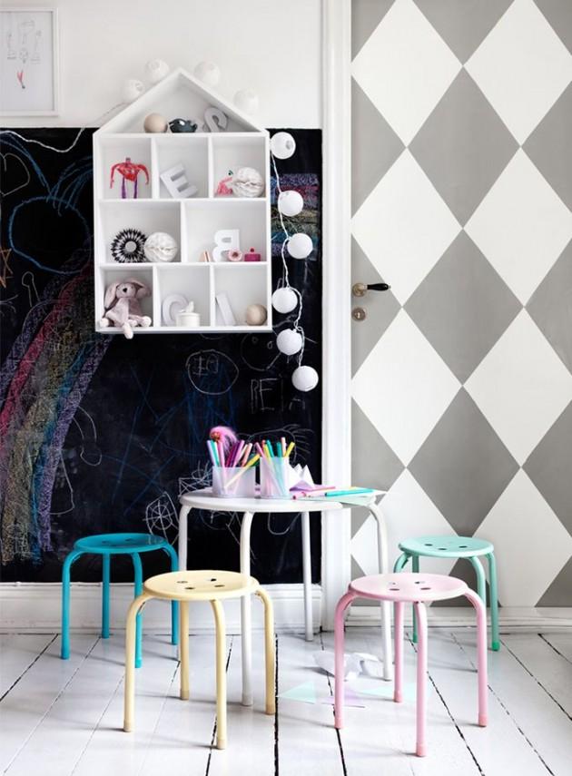 Ιδέες με Χρώμα μαυροπίνακα για παιδικό δωμάτιο4